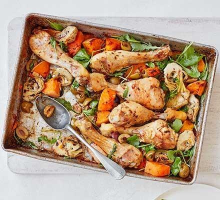 chicken and squash traybake