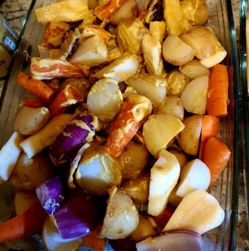 honey roasted veg
