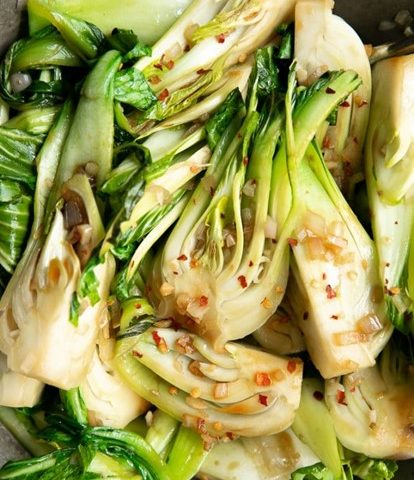 10 minute bok choy with garlic and chilli