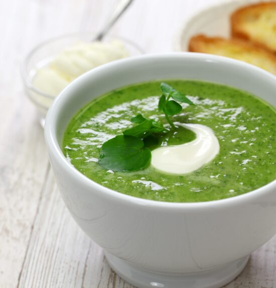 homemade watercress soup, british cuisine