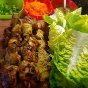 Robs chicken satay skewers