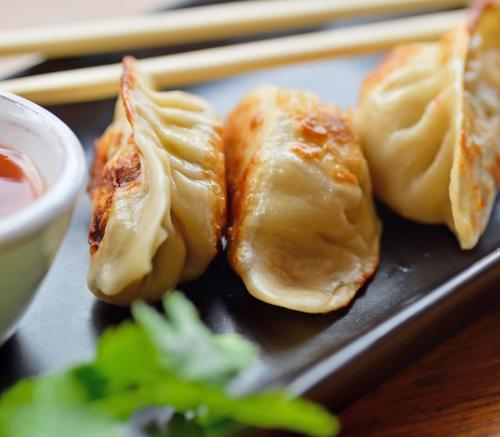 Turkey and kale dumplings