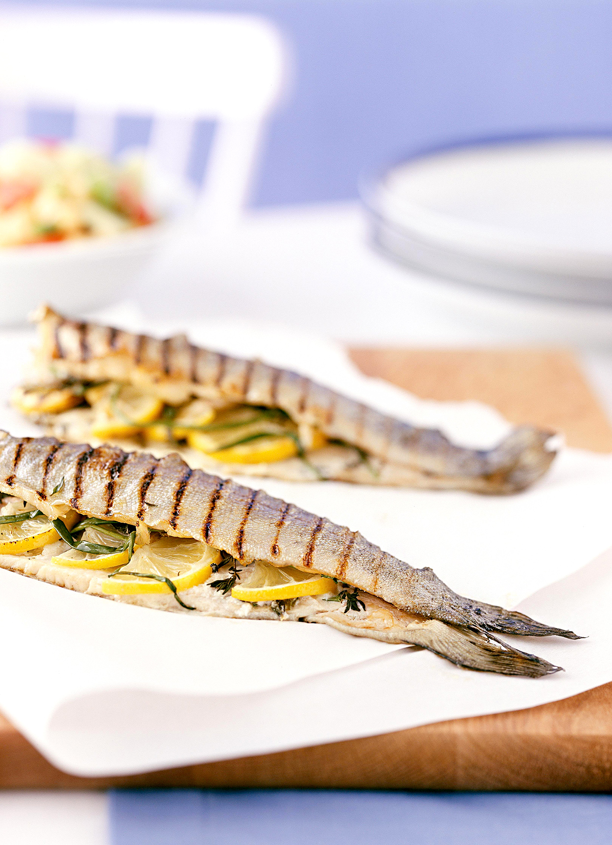 Herbed bbq trout