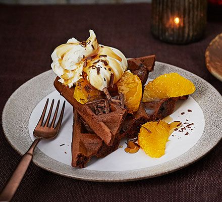 chocolate-orange-waffles