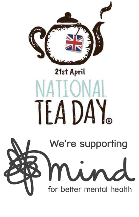 National Tea day and mind logos