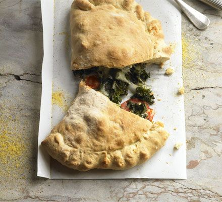 calzone with greens