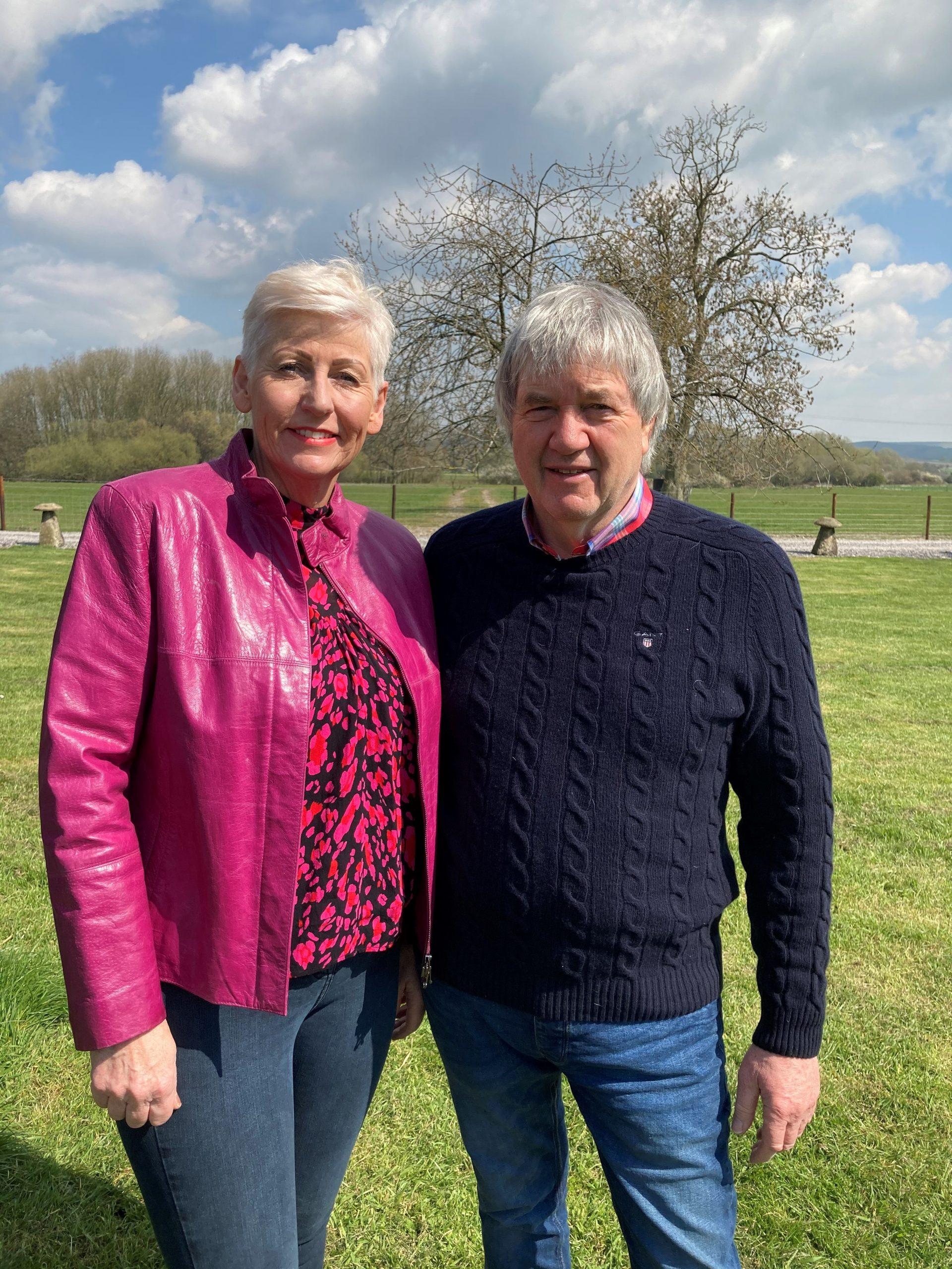 Ken & Kay stood outside