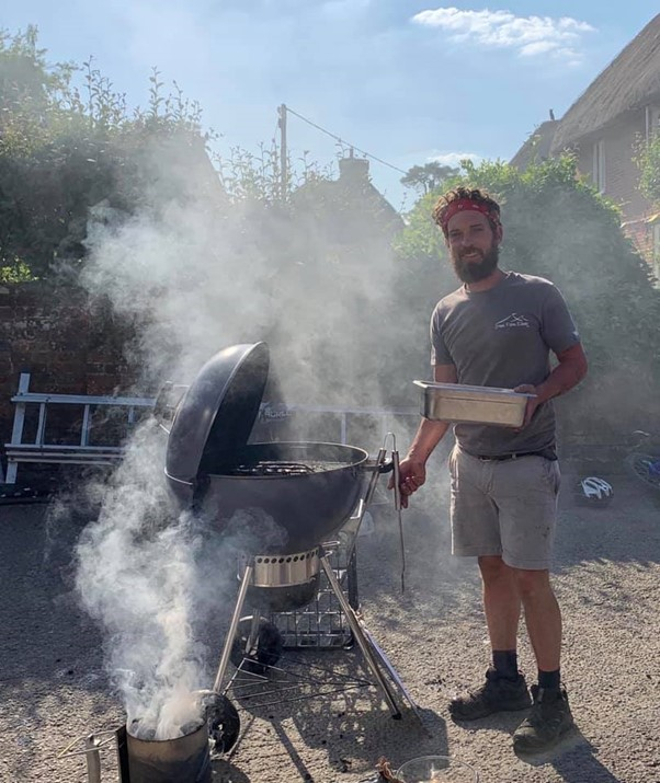 Will with his BBQ