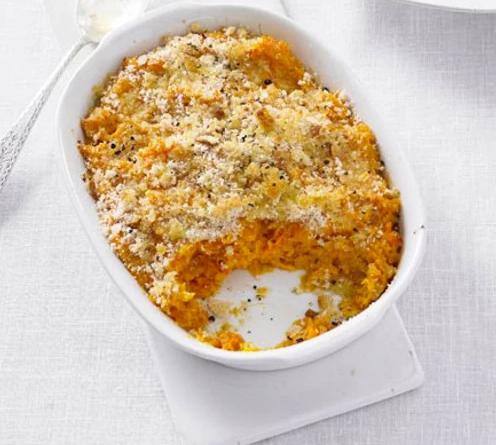 baked carrot mash