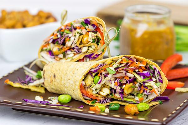 Thai-Peanut-Wraps
