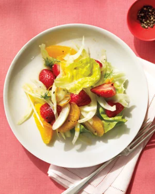 orange fennel strawberry salad