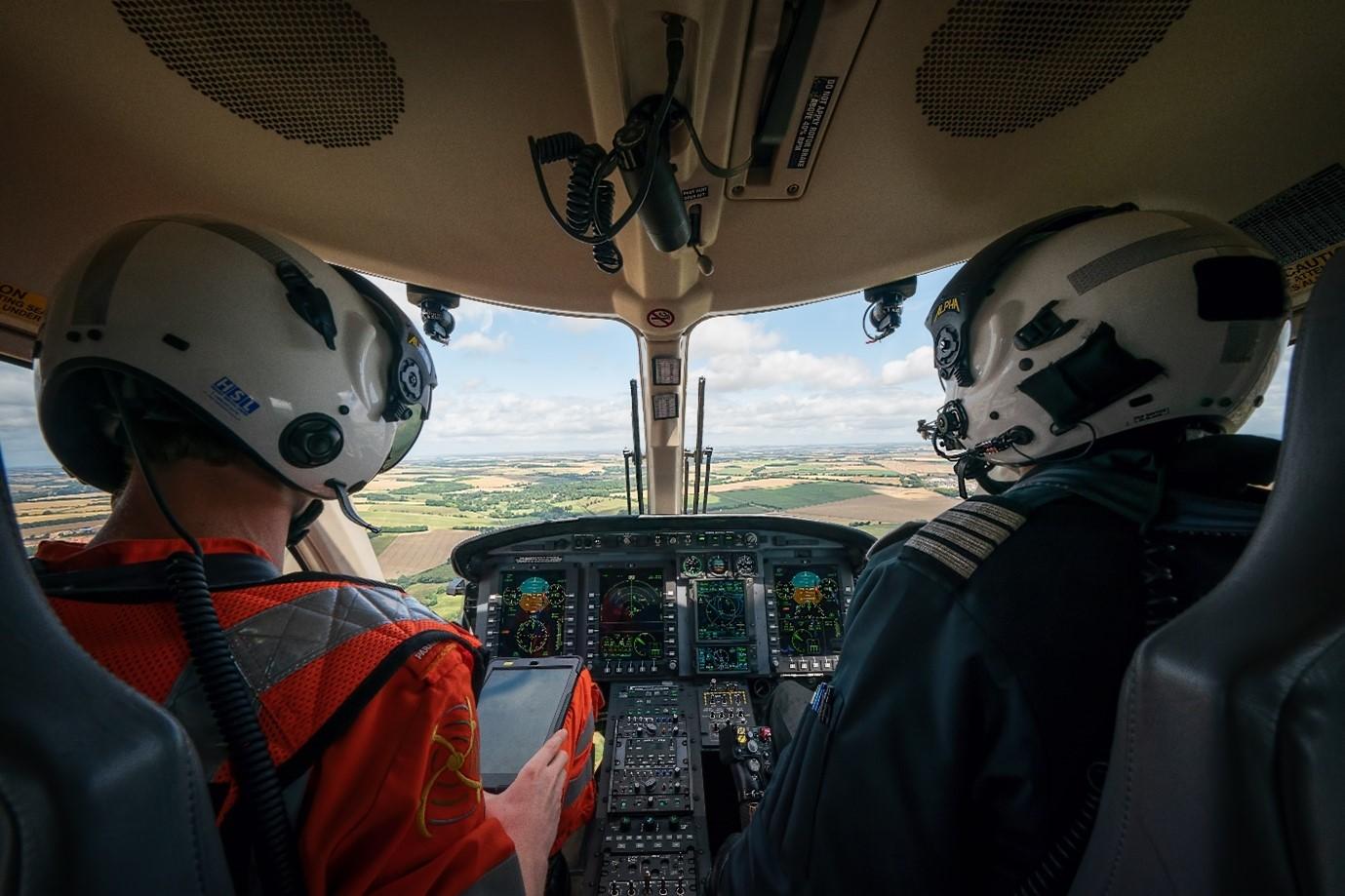 WAA pilots in the cockpit