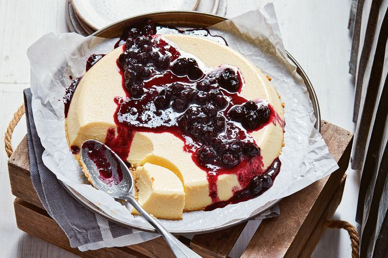 blueberry-and-ginger-flan