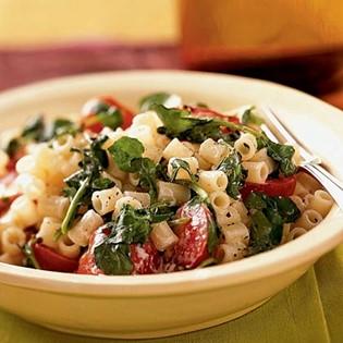 mushroom and watercress pasta
