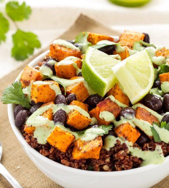 Sweet Potato and Black Bean Quinoa Bowls