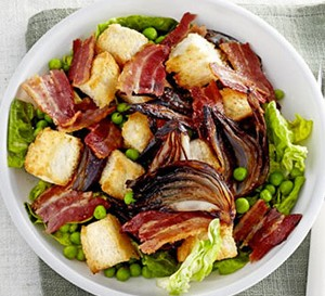 bacon and roast onion salad