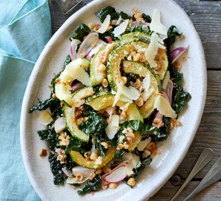 maple-roasted-marrow-on-cavolo-nero-salad
