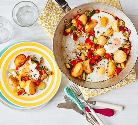 one pan egg and veg