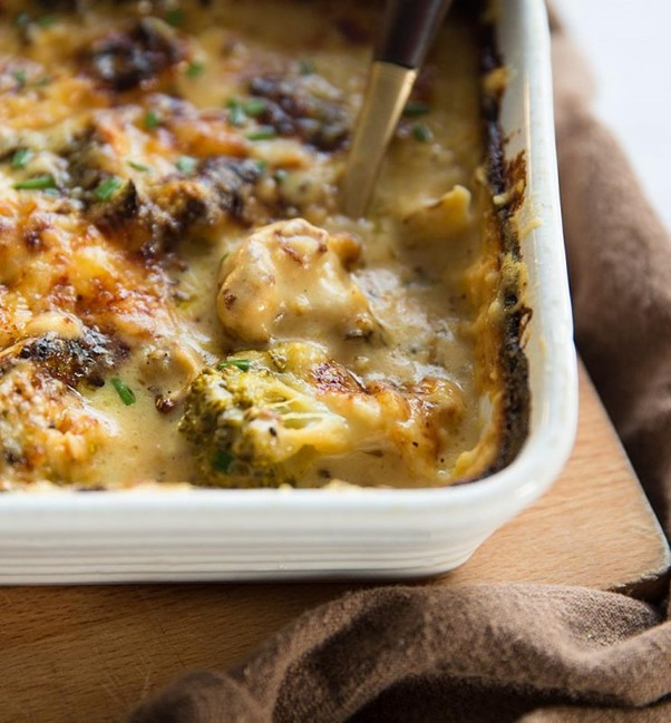 broccoli and cauliflower cheese