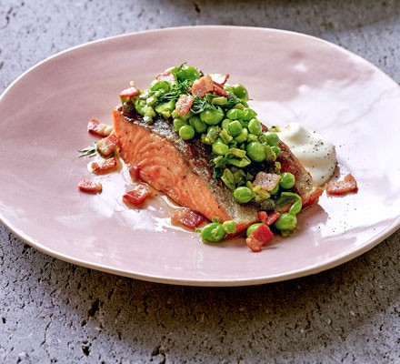 grilled-sea-trout-with-raw-pea-salsa