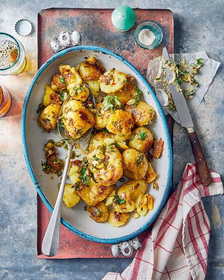 Golden-potatoes-with-chilli-butter