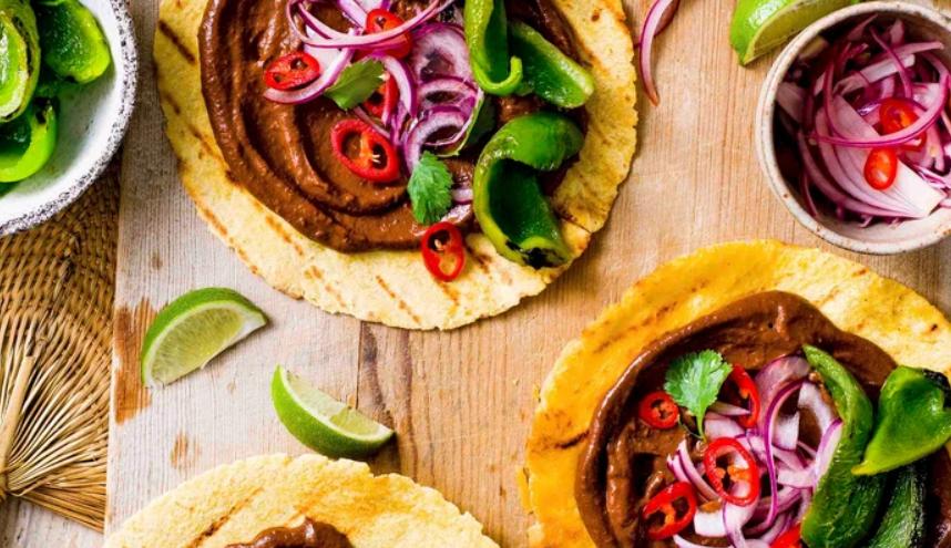 Vegan fried pepper tacos